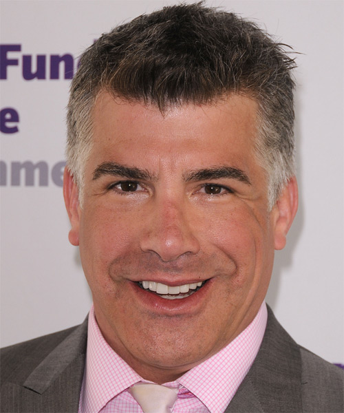 Bryan Batt Short Straight Hairstyle - Dark Grey (Salt and Pepper)
