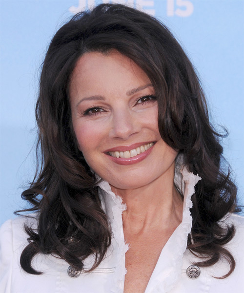 Fran Drescher Long Wavy Formal Hairstyle - Black Hair Color