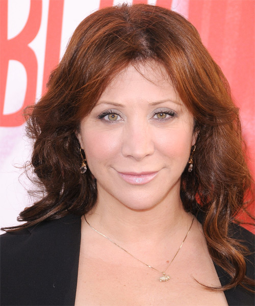 Cheri Oteri Long Wavy Hairstyle - Dark Brunette (Copper)