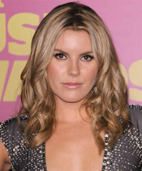 Grace Potter Long Wavy Hairstyle - Dark Blonde (Caramel)