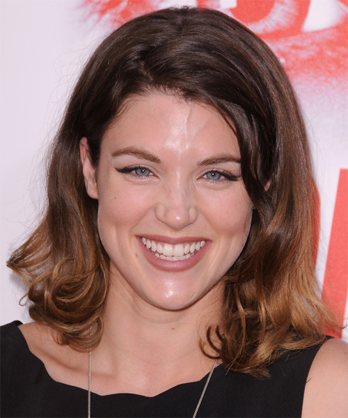Lucy Griffiths Medium Straight Casual Hairstyle - Dark Brunette Hair Color