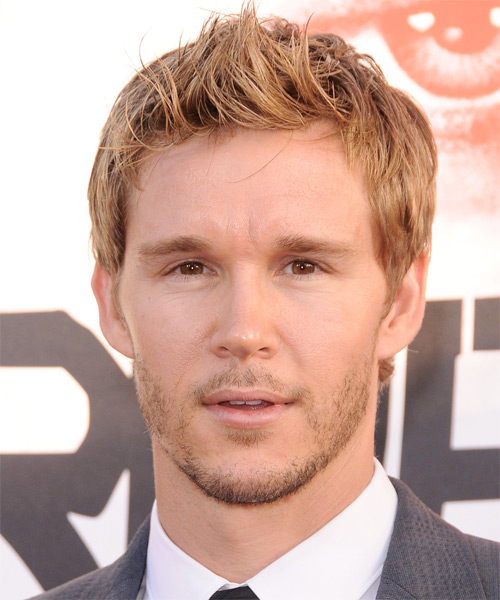 Ryan Kwanten Short Straight Hairstyle - Medium Blonde (Golden)