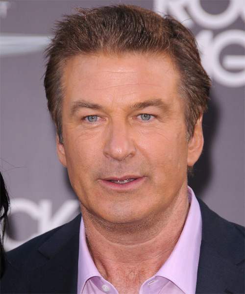 Alec Baldwin Short Straight Casual Hairstyle - Light Brunette Hair Color