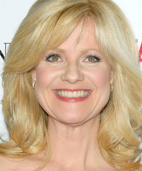 Bonnie Hunt Long Straight Formal Hairstyle