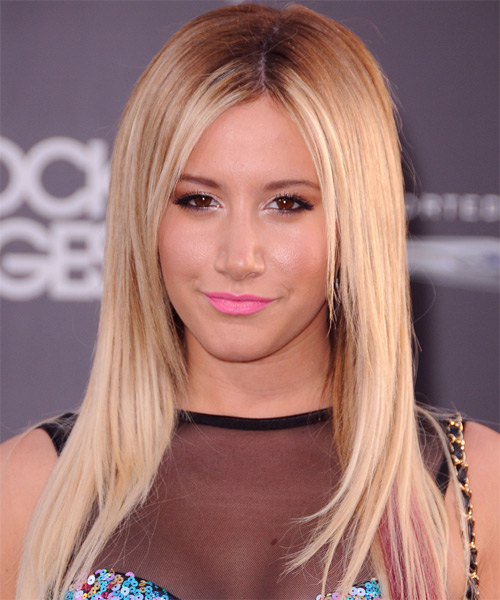 Ashley Tisdale Long Straight Formal Hairstyle (Champagne)