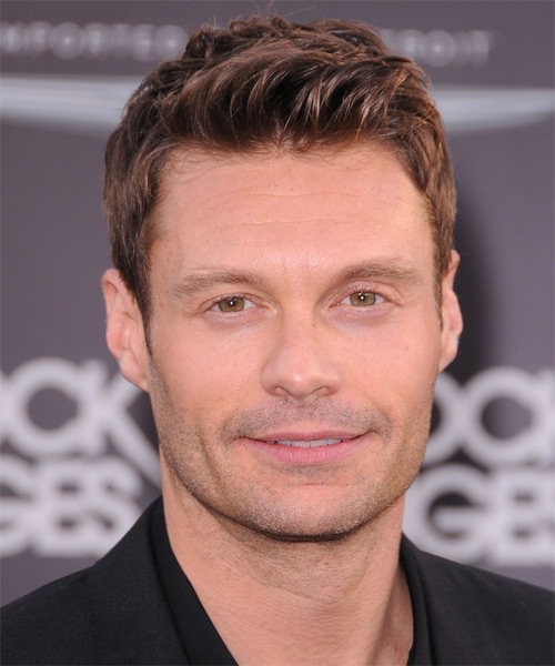 Ryan Seacrest Short Straight Hairstyle - Light Brunette