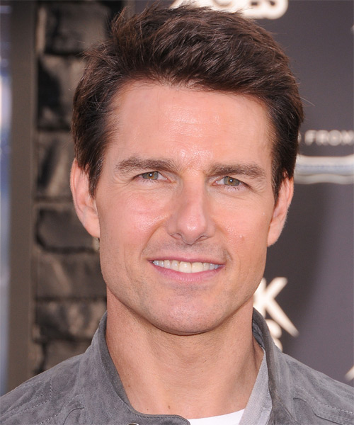 Tom Cruise Short Straight Hairstyle - Medium Brunette (Chocolate)