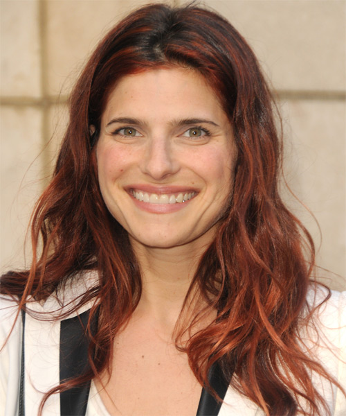 Lake Bell Long Wavy Casual Hairstyle - Medium Red (Copper) Hair Color