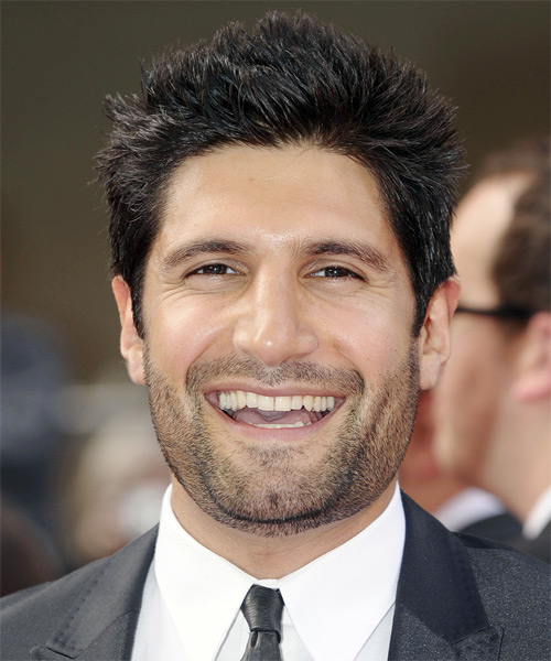Kayvan Novak Short Straight Hairstyle - Black