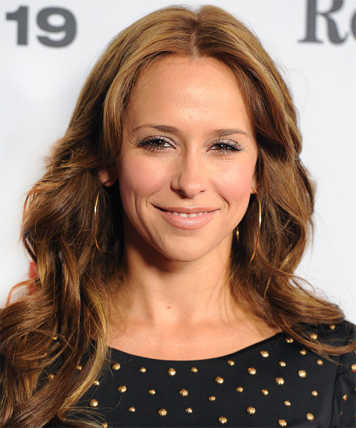 Jennifer Love Hewitt Long Wavy Casual Hairstyle - Light Brunette (Golden) Hair Color