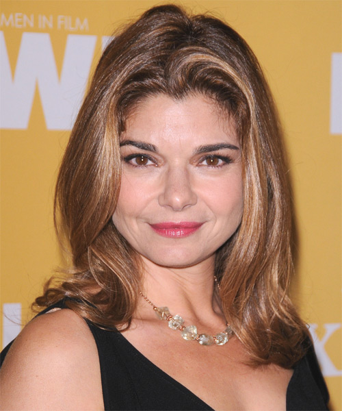 Laura San Giacomo Medium Straight Hairstyle - Medium Brunette