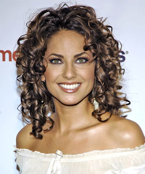 Barbara Mori - Formal Medium Curly Hairstyle