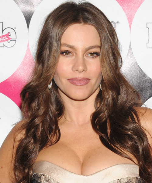 Sofia Vergara Long Wavy Hairstyle (Chocolate)