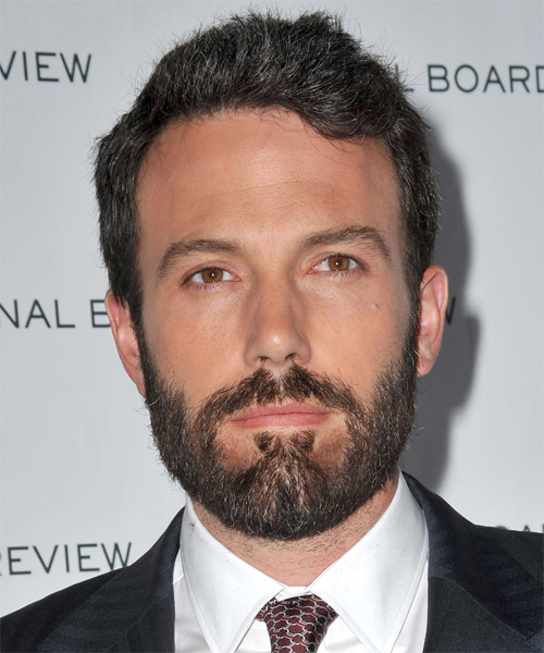 Ben Affleck Short Straight Hairstyle - Dark Brunette (Ash)