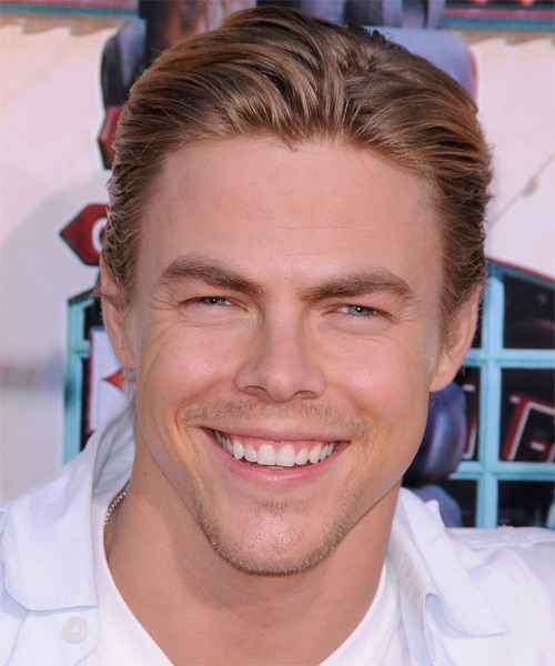 Derek Hough Short Straight Hairstyle - Dark Blonde