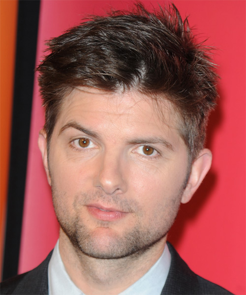 Adam Scott Short Straight Casual Hairstyle - Dark Brunette Hair Color