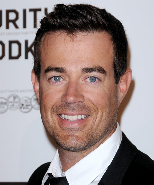 Carson Daly Short Straight Formal Hairstyle - Dark Brunette Hair Color