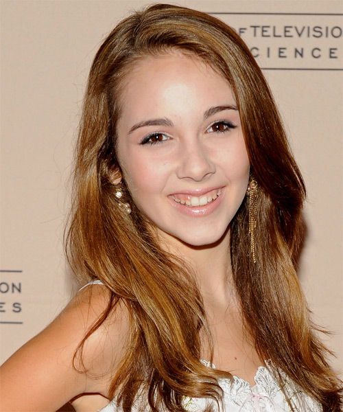 Haley Pullos  Long Straight Casual Hairstyle - Light Brunette (Chestnut) Hair Color