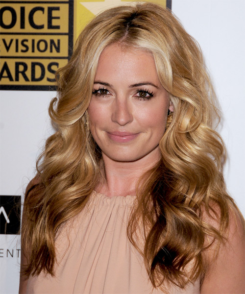 Cat Deeley Long Wavy Shag Hairstyle - Dark Blonde (Golden)