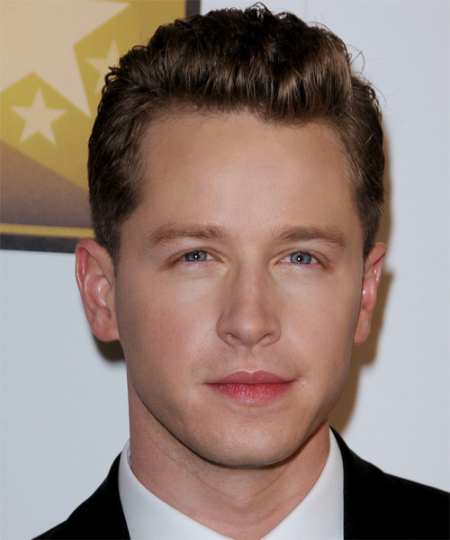 Josh Dallas Short Straight Formal  - Medium Brunette