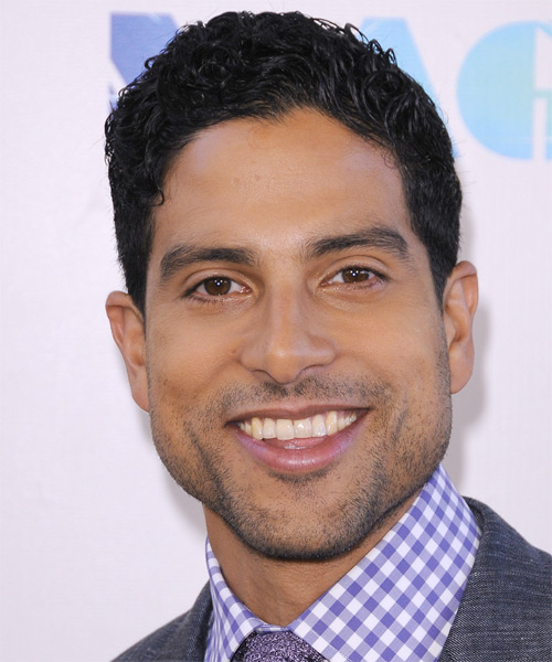 Adam Rodriguez Short Curly Casual Hairstyle - Black Hair Color