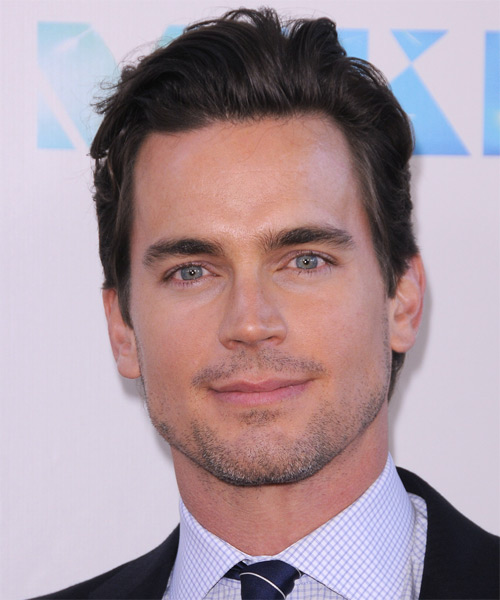 Matt Bomer Short Straight Casual Hairstyle - Dark Brunette Hair Color