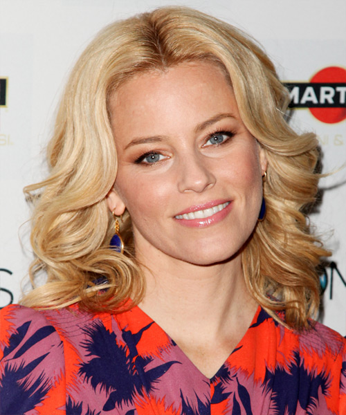 Elizabeth Banks Medium Wavy Formal Hairstyle - Medium Blonde (Golden) Hair Color