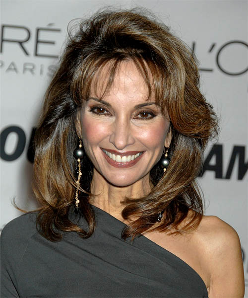 Susan Lucci Long Straight Formal Hairstyle