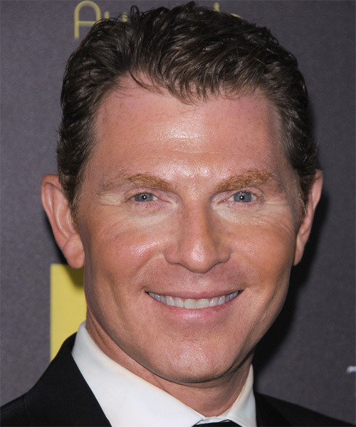 Bobby Flay Short Straight Formal Hairstyle - Dark Brunette
