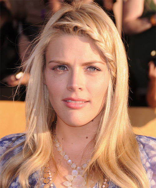 Busy Philipps Long Straight Casual Braided Hairstyle - Light Blonde (Golden) Hair Color