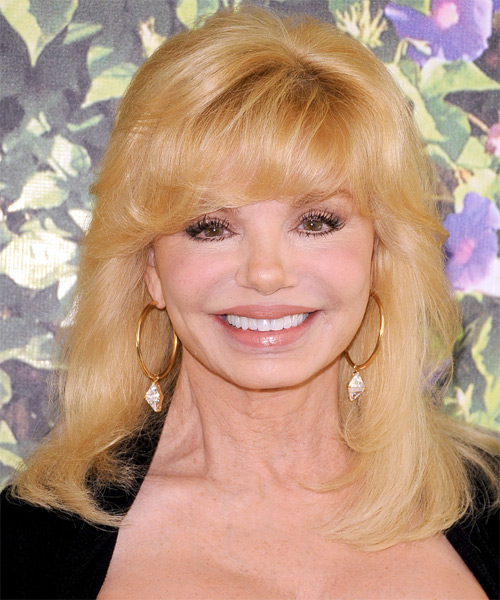 Loni Anderson Long Straight Formal Hairstyle - Medium Blonde (Golden) Hair Color