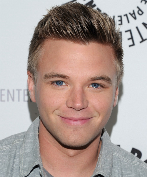 Brett Davern Short Straight Hairstyle - Dark Blonde (Ash)