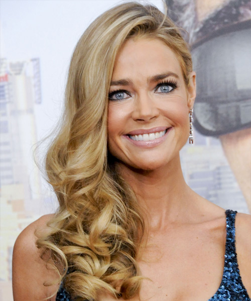 Denise Richards Long Wavy Formal Hairstyle - Dark Blonde (Golden) Hair Color