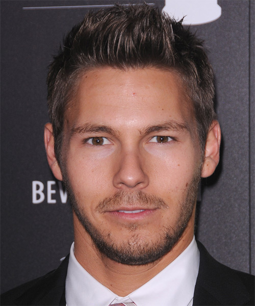 Scott Clifton Short Straight Hairstyle - Dark Brunette