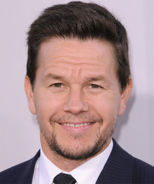 Mark Wahlberg Short Straight Hairstyle - Dark Brunette (Chocolate)