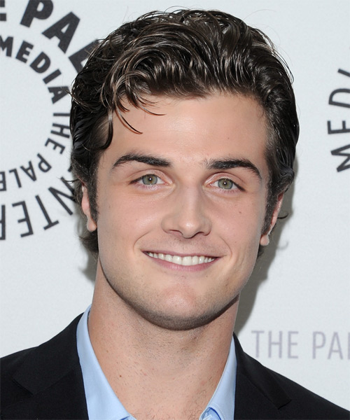 Beau Mirchoff Short Straight Casual Hairstyle - Dark Brunette Hair Color