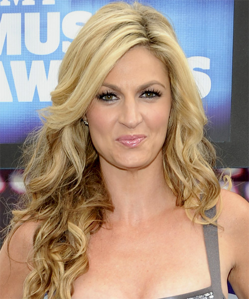 Erin Andrews Long Wavy Hairstyle - Medium Blonde