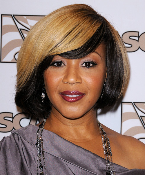 Erica Monique Atkins-Campbell Medium Straight Bob Hairstyle - Black