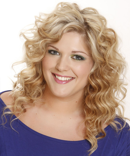 Long Wavy Casual Shag Hairstyle - Light Blonde (Champagne) Hair Color