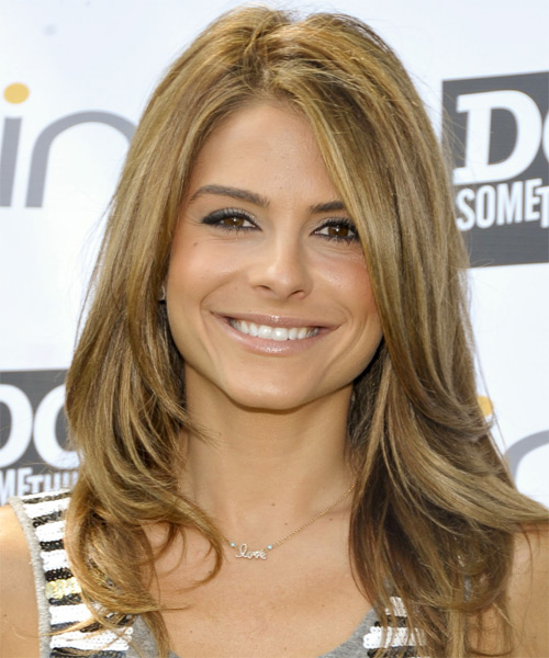 Maria Menounos Long Straight Hairstyle - Dark Blonde (Golden)