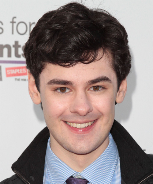 Brendan Robinson Short Wavy Casual Hairstyle - Dark Brunette Hair Color