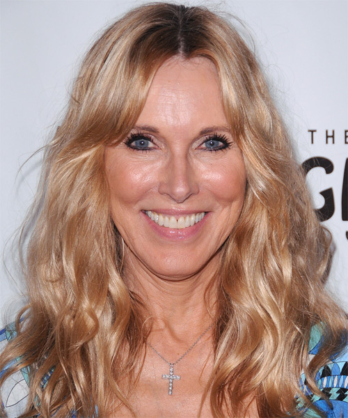Alana Stewart Long Wavy Casual Hairstyle - Medium Blonde (Golden) Hair Color