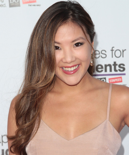 Ally Maki Long Straight Formal Hairstyle - Medium Brunette Hair Color