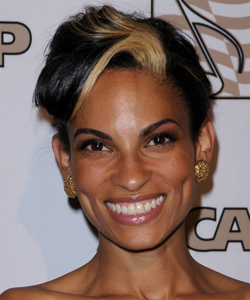Goapele Mohlabane Short Straight Hairstyle - Black