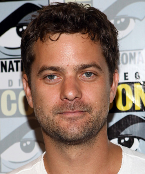 Joshua Jackson Short Wavy Casual Hairstyle - Dark Brunette Hair Color