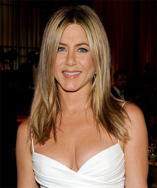 Jennifer Aniston Long Straight Casual Hairstyle - Medium Blonde (Golden)