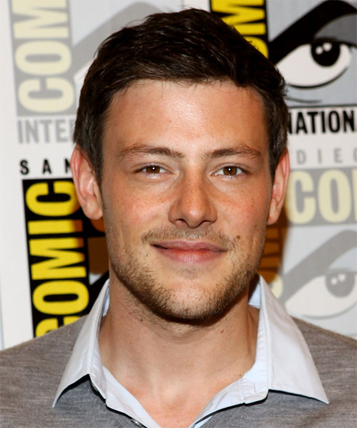 Corey Monteith Short Straight Formal Hairstyle - Dark Brunette Hair Color
