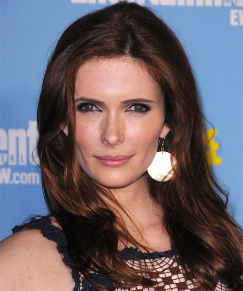 Bitsie Tulloch Long Straight Hairstyle - Dark Brunette (Auburn)