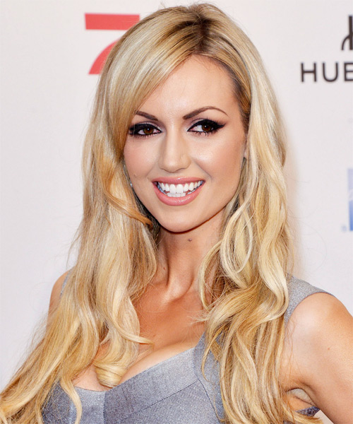 Rosanna Davison Long Wavy Hairstyle - Light Blonde (Champagne)