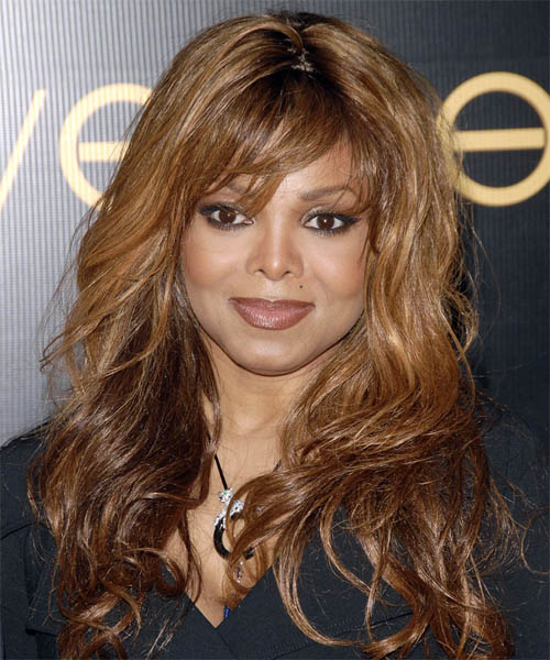 Janet Jackson Long Wavy Hairstyle
